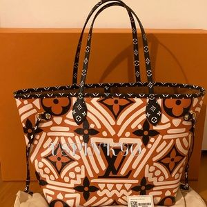 LV Crafty Neverfull Caramel Bag Only No Pouch